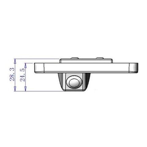 Автомобильная камера заднего вида для  Hyundai Santa Fe New Превью 4