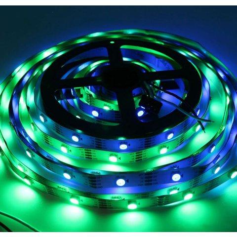Світлодіодна стрічка RGB SMD5050, WS2813 (біла, з управлінням, IP20, 5 В, 30 діодів/м, 5 м) Прев'ю 1