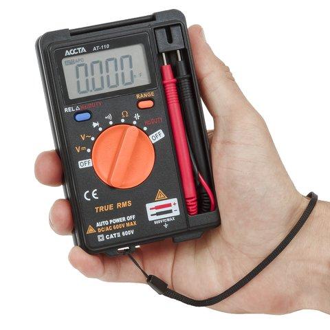 Кишеньковий цифровий мультиметр Accta AT-110 Прев'ю 4